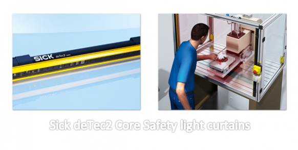 Sick Light Curtain Configuration Software: Sick DeTec2 Core Safety Light Curtains