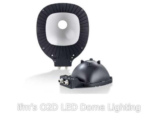 ifm's O2D LED Dome Lighting